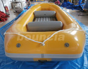 Yellow 2.0mm Thick Inflatable River Rafting Boat For Rental Business