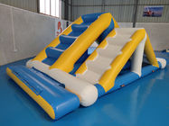 Kids Floating Inflatable Water Park / Inflatable Aqua Splash Park For Shallow Area